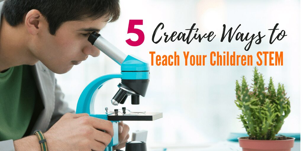 5 Creative ways to teach your child STEM. Are you looking for ways to help your child learn STEM (STEAM) at home? Check out these five ways to learn science, technology, engineering, arts, and mathematics