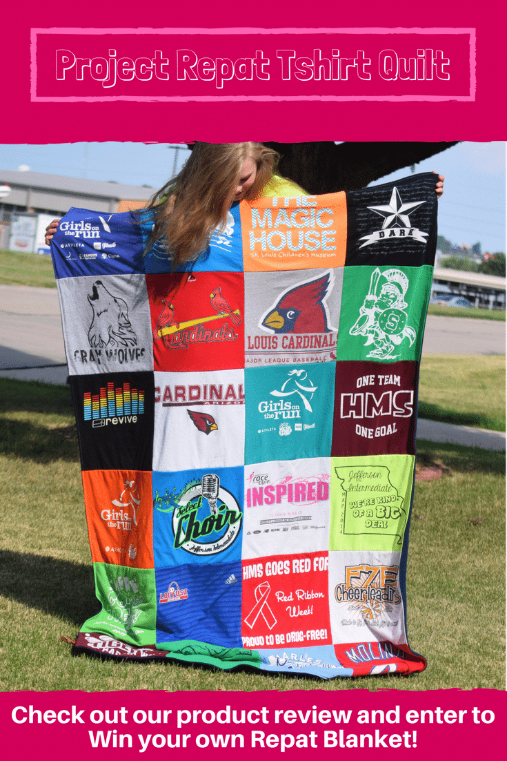 Project Repat Tshirt Quilt Review & GIveaway : Every t-shirt quilt has a unique story to tell — what will yours say? Learn more about how you can turn t-shirts into a great conversation starter with Project Repat.
