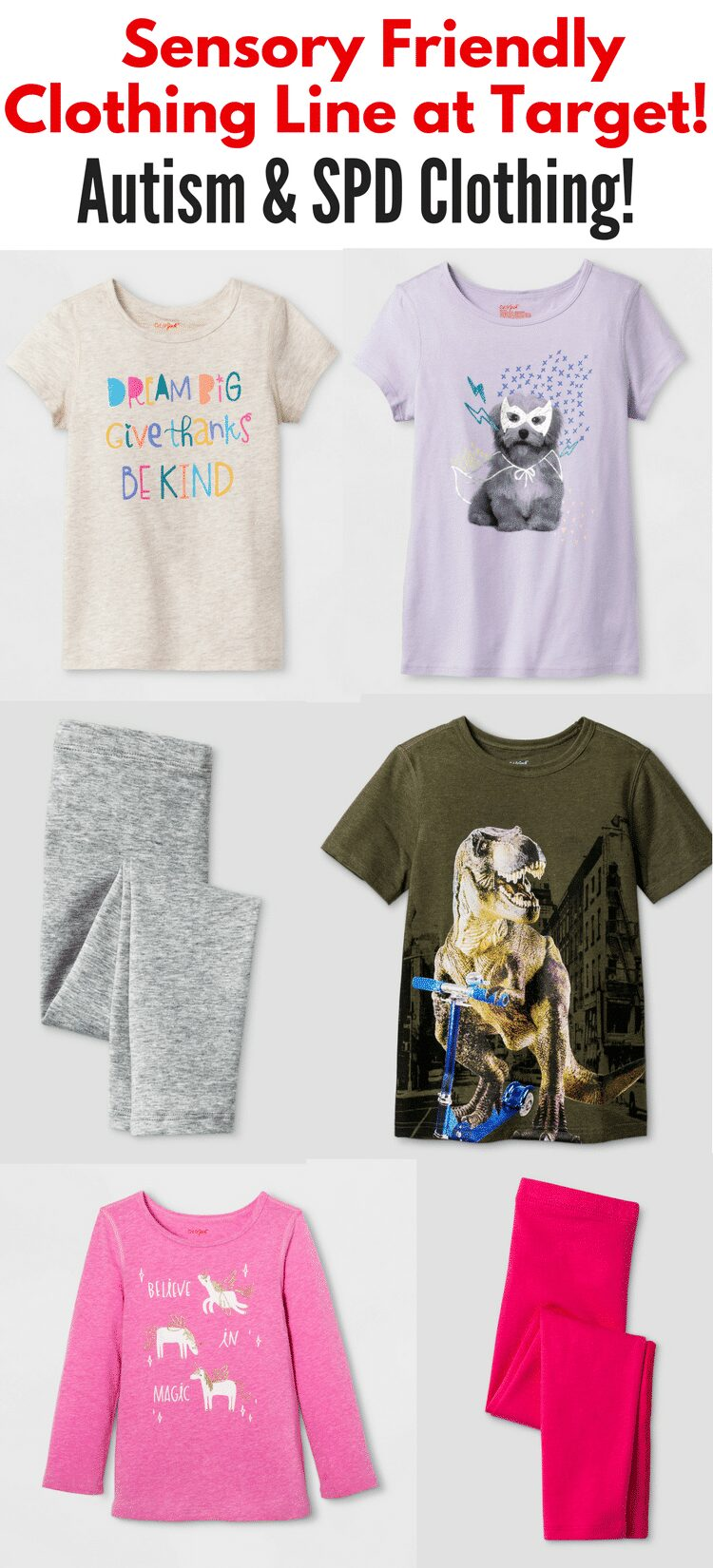 Sensory Friendly Clothing Line at Target! Autism & SPD Clothing!