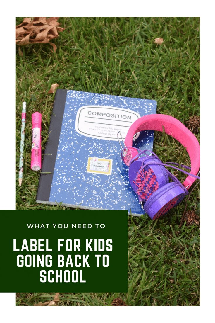 What items to label for Children going back to school