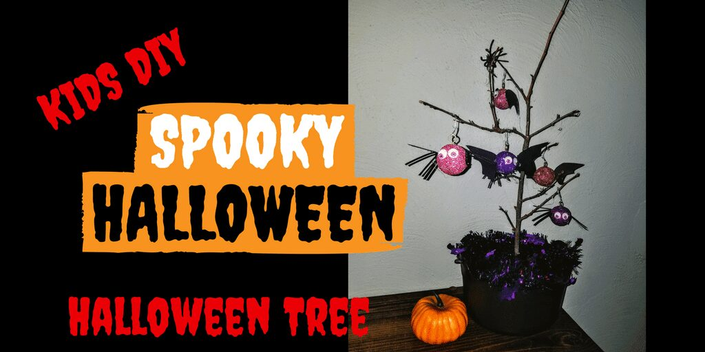The Halloween Tree! Halloween can be fun for all ages! Get your kids involved in the decorations by creating this cute kids DIY Halloween Tree Centerpiece