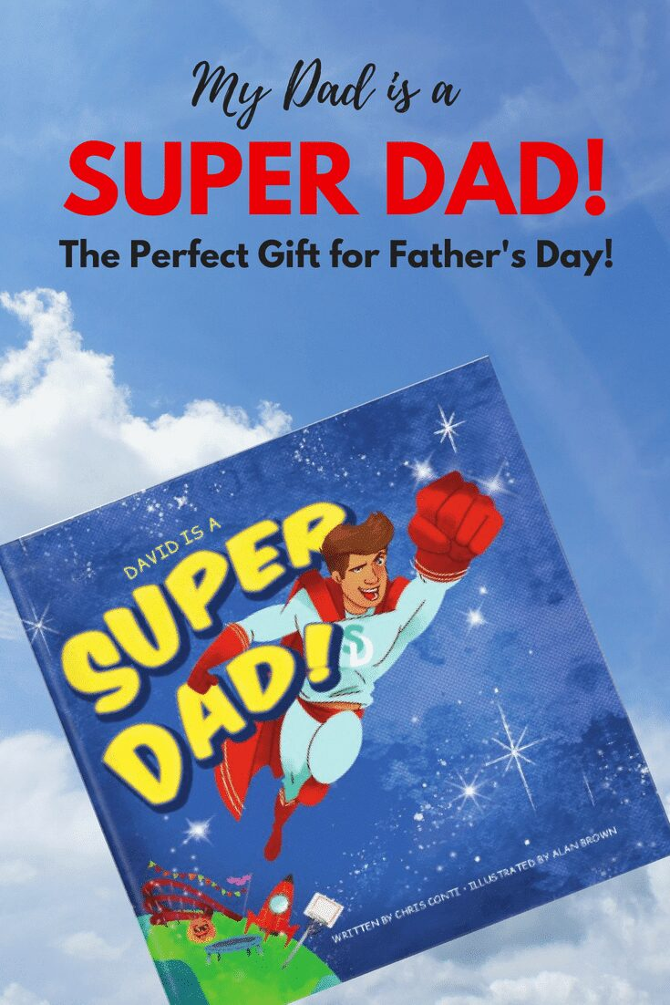 My dad is a SUPER DAD! The Perfect gift for Father's Day, Dad's Birthday, or even for a Dad to be!
