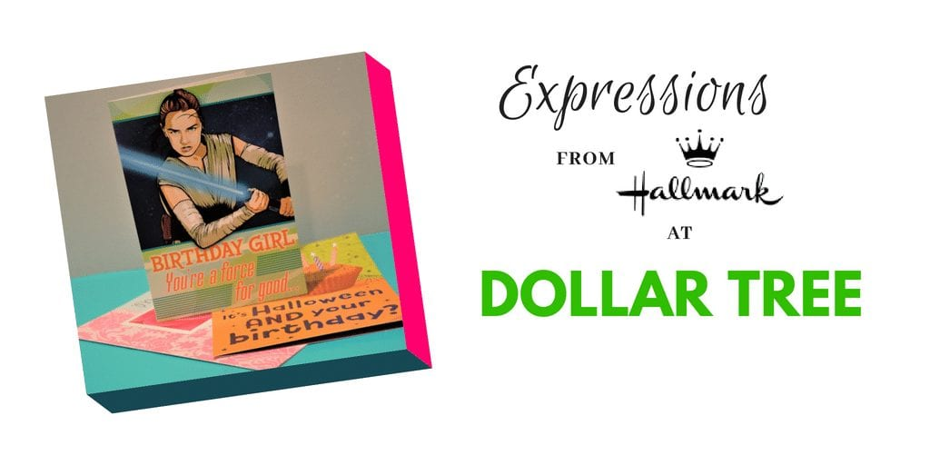 When it comes to birthdays supplies, holidays & mores, Dollar Tree is my go to store!Hallmark Expression Greeting cards to Dollar tree for just $1 each!
