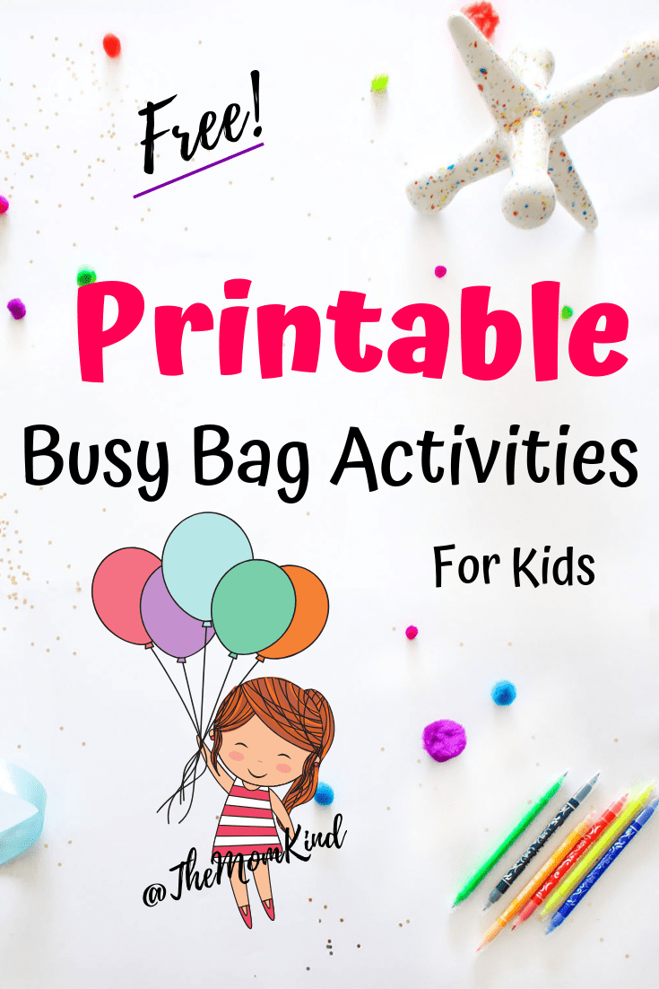Keeping your small child entertained can be a feat. These printable busy bags activities will be a blast for your little one!