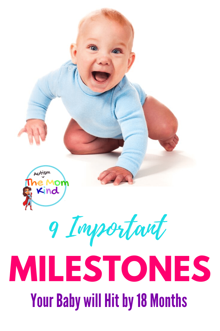 If you are concerned about your baby meeting their milestones, here are 9 of the most important ones to look for with your baby. #baby #parenting #momlife