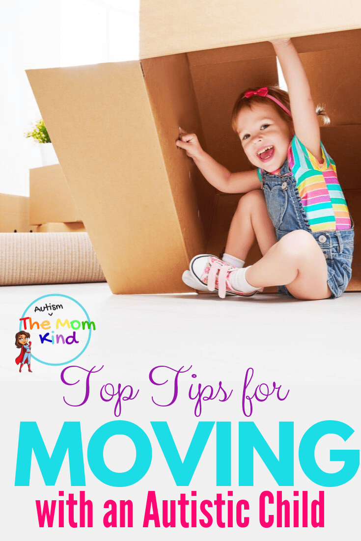 Children with autism often struggle with change. Check out these Tips for Moving with an Autistic Child #autismparenting #asd  #autism