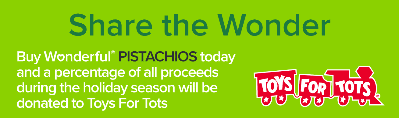 #ad Besides the fact that they taste amazing, @WonderfulPistachios are helping you give back this holiday season!  With their #GoNutsForTots campaign, Wonderful Pistachios will be donating $.10/unit for Wonderful Pistachios Roasted & Salted and Wonderful Pistachios Roasted No Salt sold at Walmart up to $100k with the donations benefiting @ToysForTots Check out more here: http://goic.io/ZCPEj3 #WP