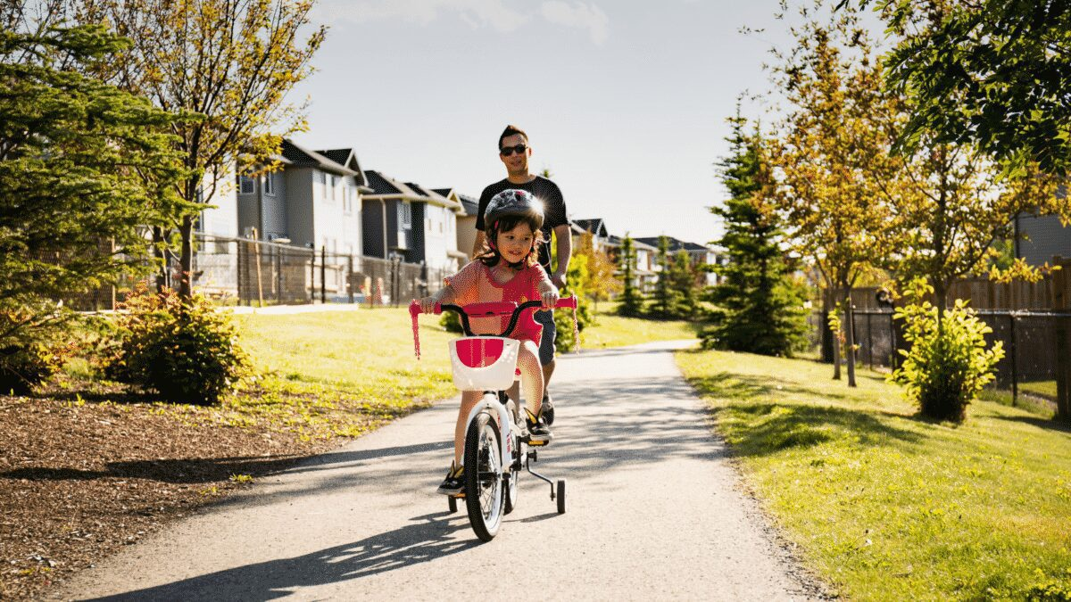 Learning how to ride a bike is easy when you know how. It's just getting there that's the issue. Teach your child with these 3 easy tips